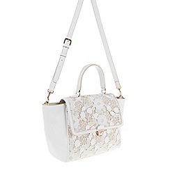 Parfois - Light Cream plain fabric bowling bag