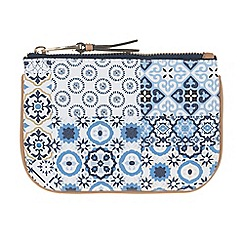 Parfois - Blue Patchy Tile Wallet