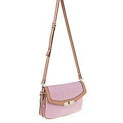 Parfois - Pink Ramadan straw cross bag