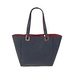 Parfois - Navy 'Tetris' shopper bag