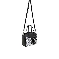 Parfois - Flora black & white cross bag