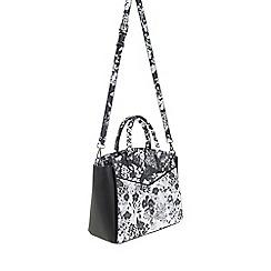 Parfois - Flora black & white tote bag