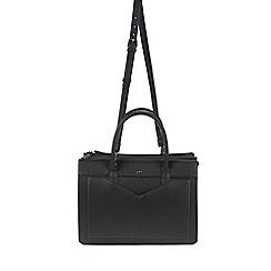 Parfois - Flora pink & black briefcase