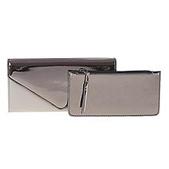 Parfois - Silver 'Flora' wallet