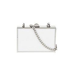 Parfois - White 'Blocky' clutch bag