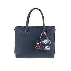 Parfois - Navy 'Royal flower' briefcase