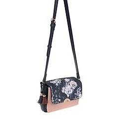 Parfois - Navy 'Royal flower' cross bag