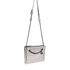 Parfois - Silver 'Harley' clutch