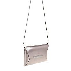Parfois - Silver 'Post' envelope clutch