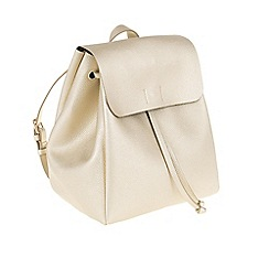 Parfois - Gold 'Formentera' backpack