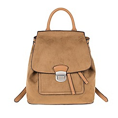 Parfois - Camel 'Metallic' backpack