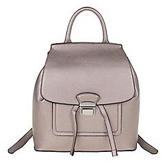 Parfois - Silver 'Metallic' backpack