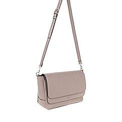 Parfois - Taupe 'Metallic' cross bag