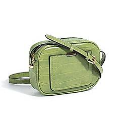 Parfois - Animal embossed cross green hand bag