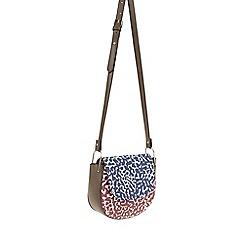Parfois - Dark Red 'Leopard' cross bag