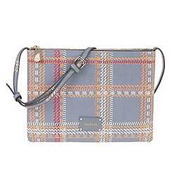 Parfois - Grey 'Metallic' cozy cross bag