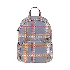 Parfois - Grey 'Metallic' cozy backpack