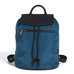 Parfois - Nylon backpack teal hand bag