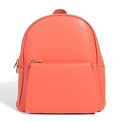 Parfois - Coral plain backpack hand bag