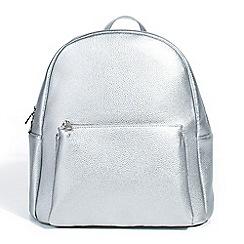 Parfois - Silver plain backpack hand bag