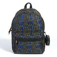Parfois - Plain fabric knapsack khaki hand bag