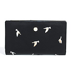 Parfois - Black birds wallet document holder