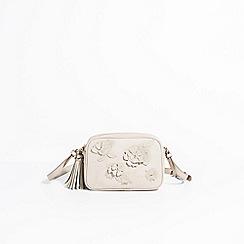 Parfois - Light cream birds garden cross bag