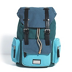 Parfois - Blue jean bird backpack
