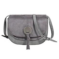 Parfois - Grey stripy cross bag