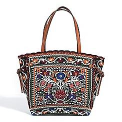 Parfois - Multicoloured embroidery shopper bag