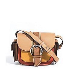 Parfois - Camel suede cross bag