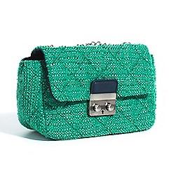 Parfois - Green night corduroy crossover bag