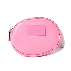 Parfois - Pink liso coin purse wallet