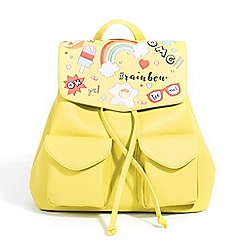 Parfois - Lime plain backpack