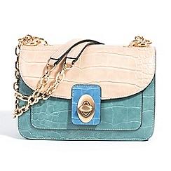 Parfois - Animal embossed cross green handbag