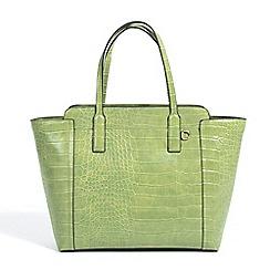 Parfois - Animal embossed shopper green handbag