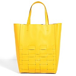 Parfois - Interlaced shopper mustard handbag