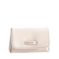 Parfois - Beige coin purse fake chamois wallet