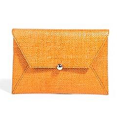 Parfois - Orange straw clutch