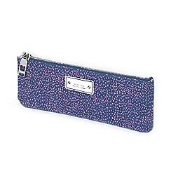 Parfois - Estampado purple cosmetic bag wallet