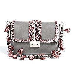 Parfois - Grey botanic cross bag