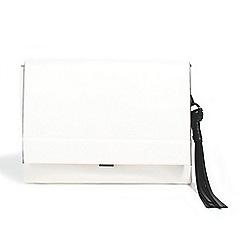 Parfois - White bold envelope clutch