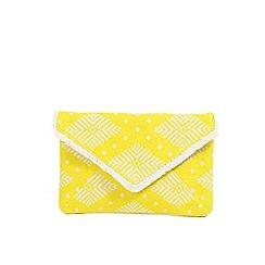 Parfois - Yellow Twin set envelope clutch bag