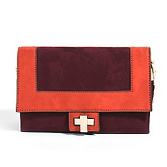 Parfois - Purple hand bag plain pu cross bag