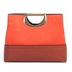 Parfois - Dark orange minimal shopper