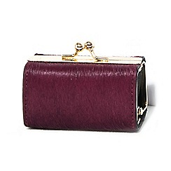 Parfois - Purple wallet coin purse real fur