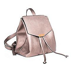 Parfois - Metallic Hand bag plain backpack silvered