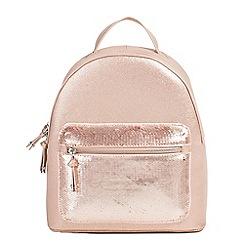 Parfois - Light pink hand bag backpack