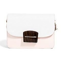 Parfois - Light cream minimal cross bag