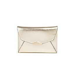Parfois - Gold trapeze party clutch bag